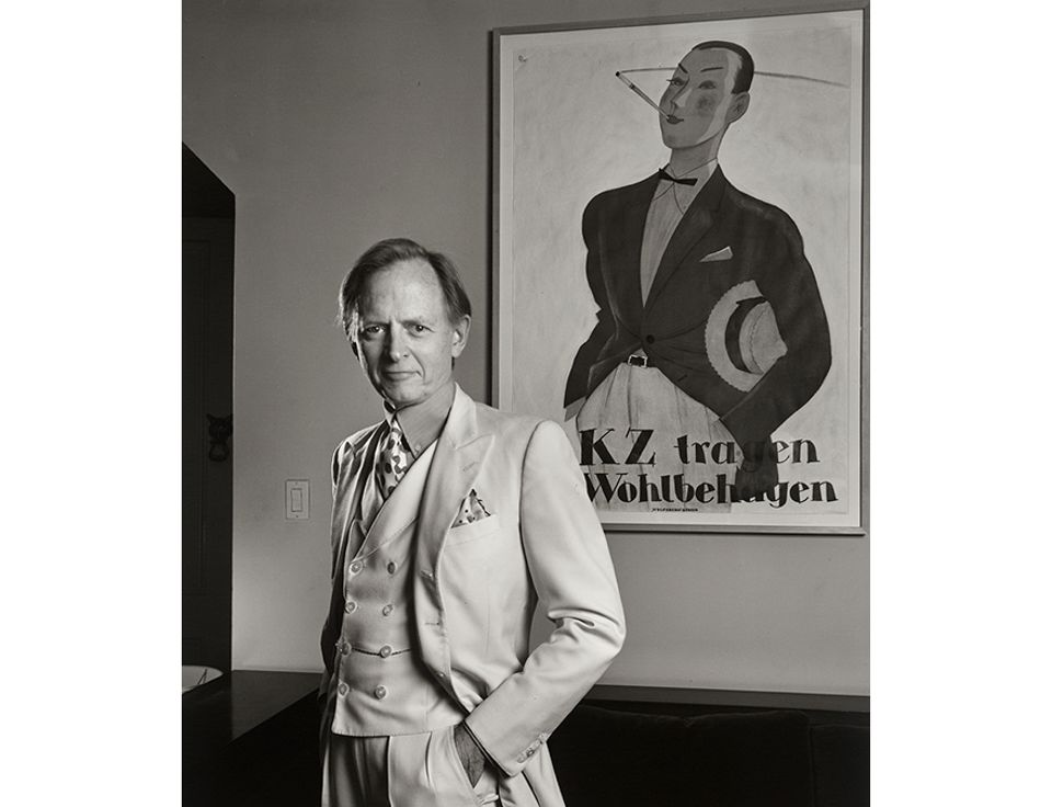 Tom Wolfe by Yousuf Karsh (1990), Gelatin silver print