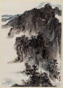 Courtesy Cantor Arts Center. Kate Mendillo pick (for 105 Russell) Huang Binhong (China, 1864–1955), Mountain Landscape, c. 1953. Ink and color on paper. Gift of Dr. Shirley Sun (A.B., 1964; A.M., 1969; Ph.D, 1974), 1994.113
