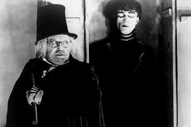 Werner Krauss, left, and and Conrad Veidt in The Cabinet of Dr. Caligari.