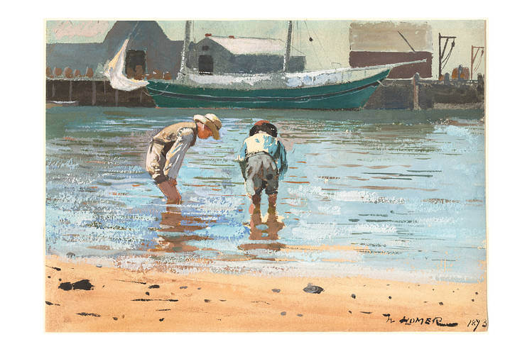Winslow Homer's 'Boys Wading' (1873).