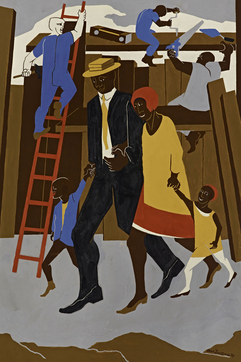 'Poster Design ... Whitney Exhibition' (1974) by Jacob Lawrence