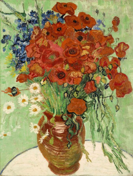 Vincent van Gogh Still Life, Vase with Daisies and Poppies, 1890. Est. $30/50 million. (Courtesy Sothebys New York)