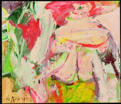 A Willem De Kooning art work.  AFP pic