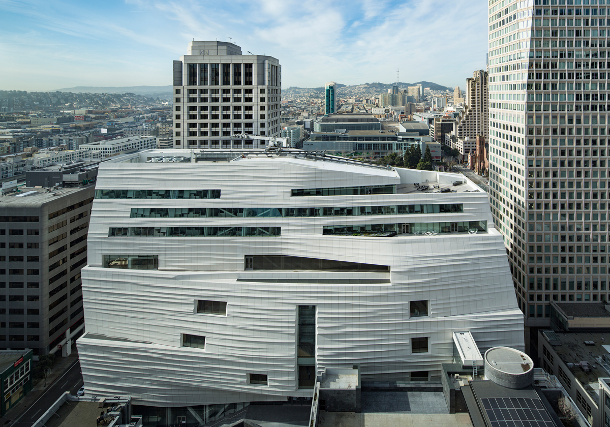 The exterior of SFMOMA. HENRIK KAM