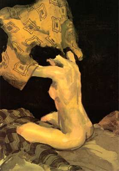 Seated Nude by Malcolm Liepke